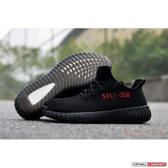 2016-New-Mens-&-Womens-Kanye-Wes-Yeezy-Boost-350-V2-All-Black ultraunc