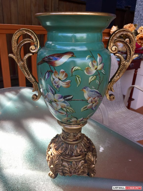 antique ceramic bird urn