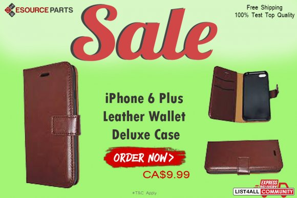 Best Quality iPhone 6 Plus Leather Wallet Deluxe Case Cover