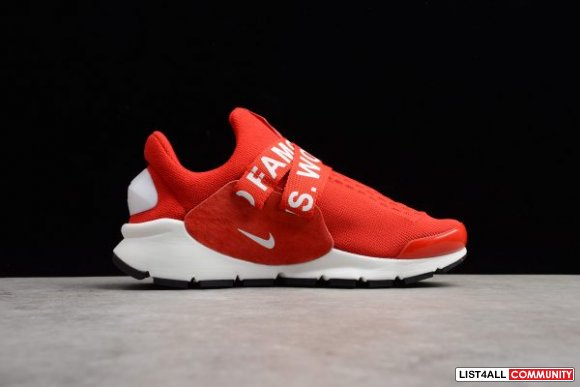 New Nike Sock Dart x Supreme White Red Men 8217 and Women 8217 Size Sh