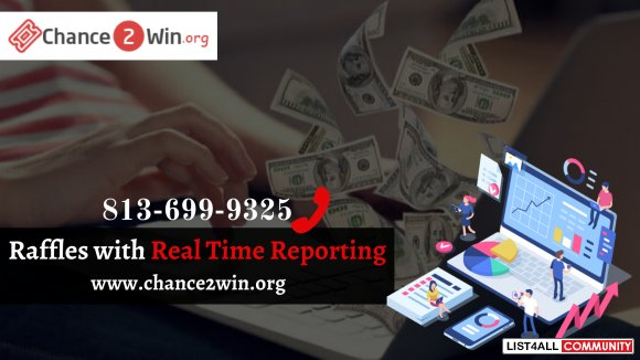 Host Online charity raffle with Real Time Reporting