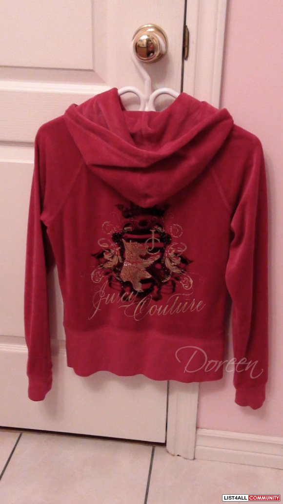 Juicy Couture velour zip up hoodie (long version)