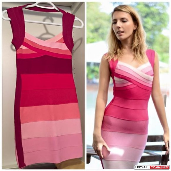 Herve Leger style ombre bandage dress