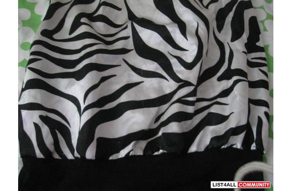 CUTE ZEBRA PATTERN SEDUCTION DRESS