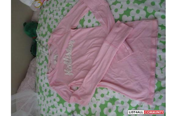 BABY PINK HOLLISTER LONG SLEEVE
