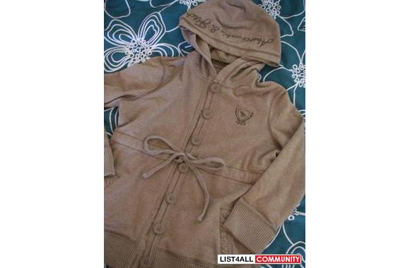 Abercrombie&Fitch Brown Button Up Hoodie