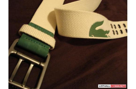 I have a new Lacoste casual belt