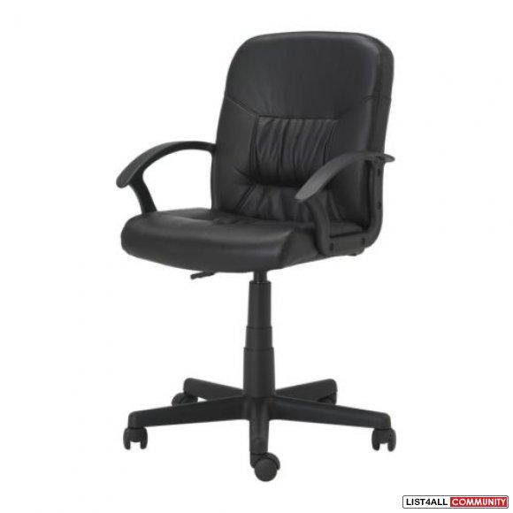 ikea leather like swivel office chair 604 sale list4all