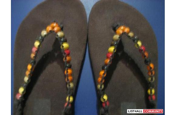 Cute Boho-style flip-flops bought on holiday in Ireland last year and