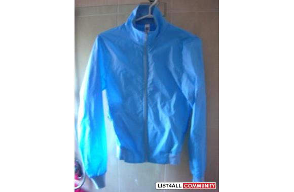 Brand New American Apparel Babyblue Nylon Jacket (tag still on!)