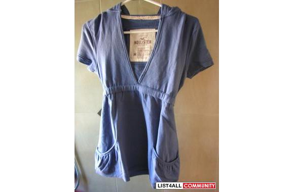 Blue Hollister dress-like t-shirt hoodie
