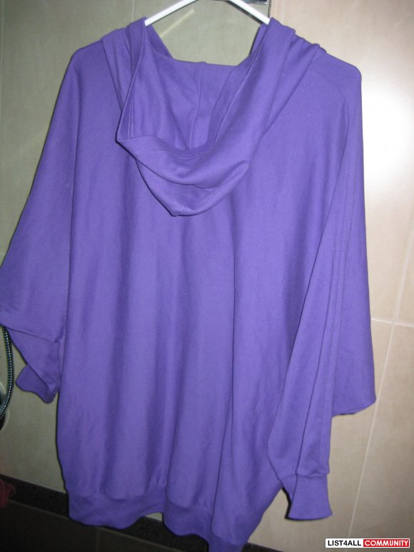Brand New American Apparel Purple Loose Hoodie