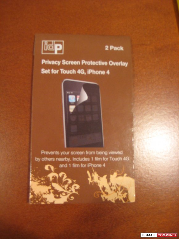 Brand New IPhone 4 Privacy Screen Protective Overlay