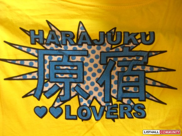 Authentic Harajuku Lovers Yellow T-Shirt