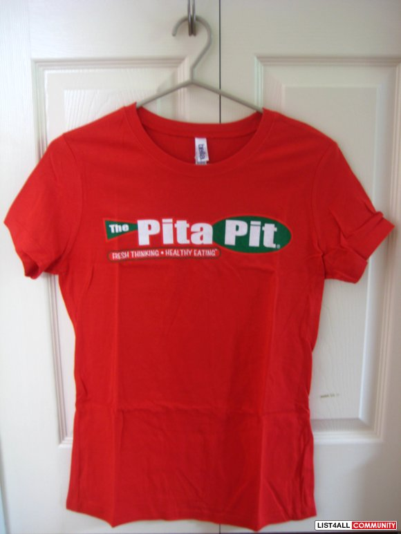 Brand New The Pita Pit Red Tees