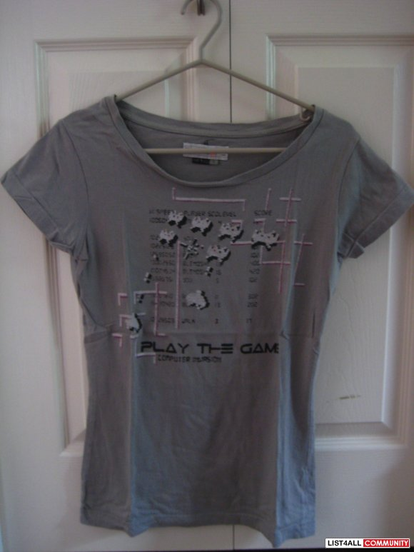 Grey Space Invader Tee