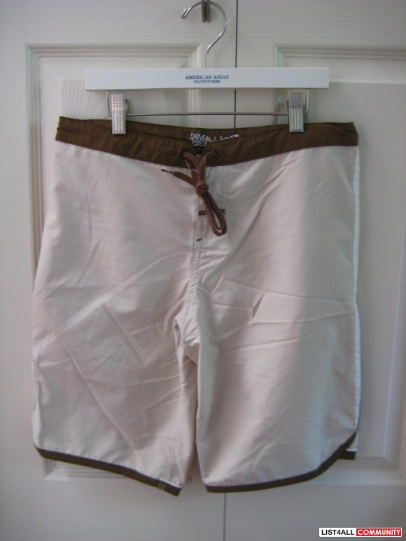 Roxy Beige Brown Boarding Shorts