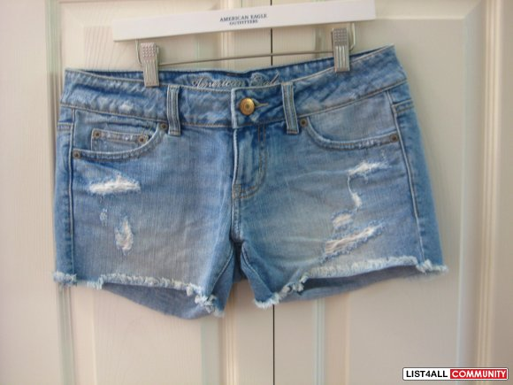American Eagle Ripped Jean Shorts