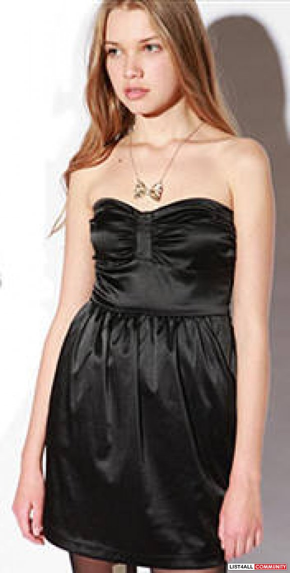 Brand New Urban Outfitters Black Strapless Dress