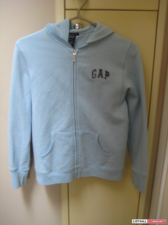 The Gap Light Blue Hoodie Zip Up (Stretch)