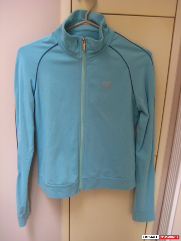 TNA Light Turquoise Action Wear Zip Up