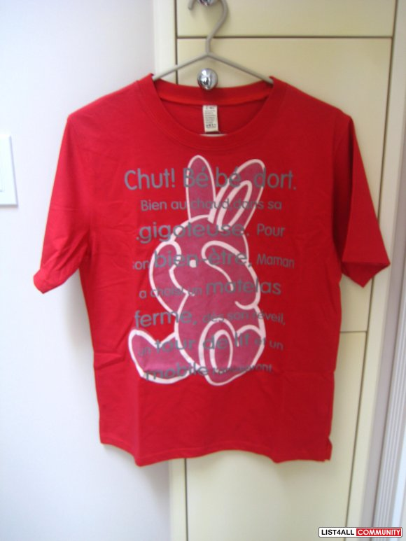 Brand New Bunny Rabbit Red Tee