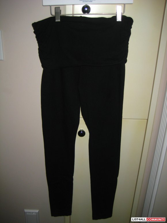 Black Leggings w/ fold over design