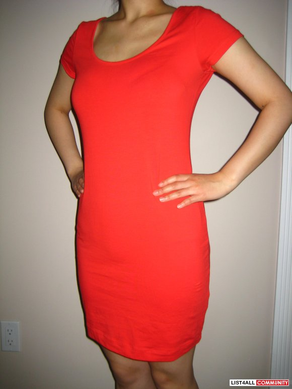 H&M Red Basic Dress