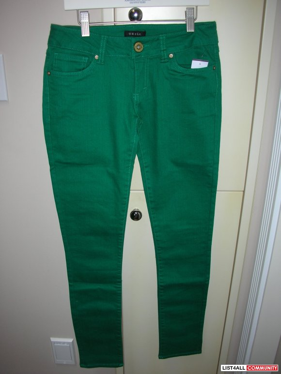 Brand New Green Skinny Jegging Jeans