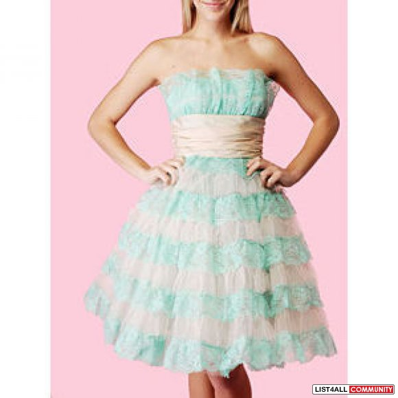 Betsey Johnson Evening Party Strapless Dress