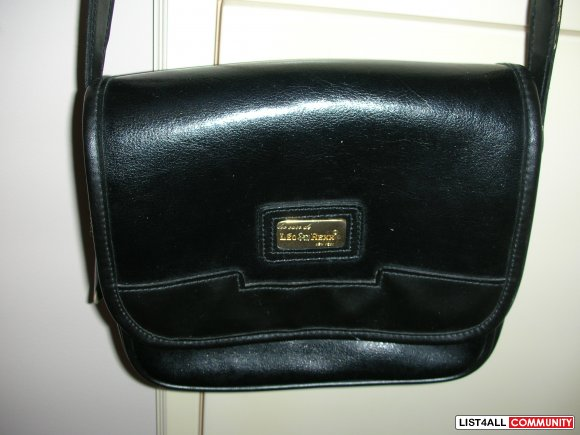 Les sacs de Leo Rexx New York Black Leather Side Handbag