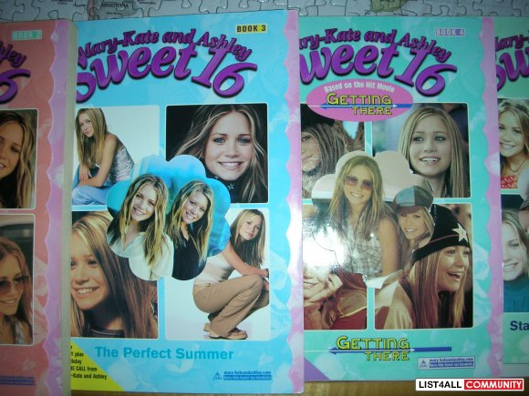 "Book Collection of ""Mary-Kate and Ashley Sweet16"" (6 books total)"