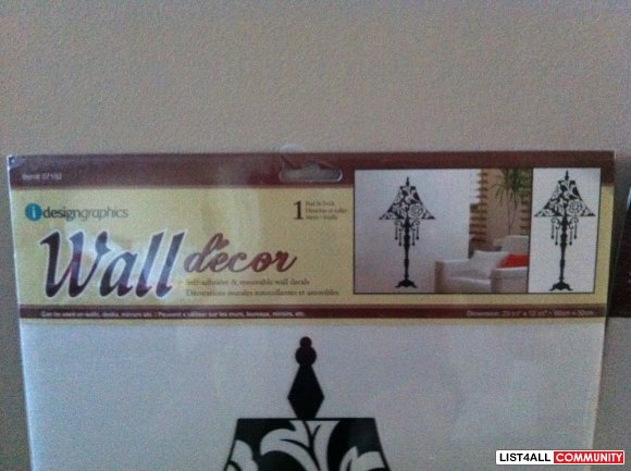 Wall Decor Stickers - Black Table Lamp