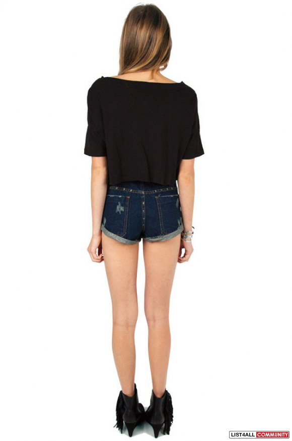 Tobi Highwaisted Denim Shorts