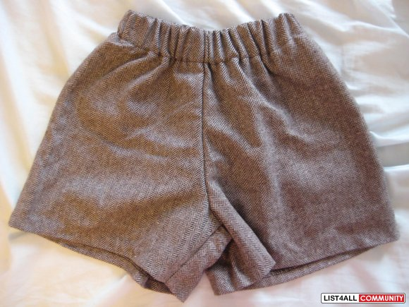 Brand New Korean Style Patterned Brown Short