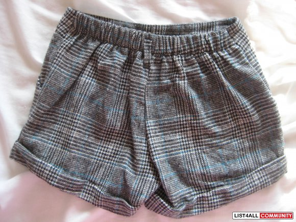 Brand New Korean Style Patterned Grey Short