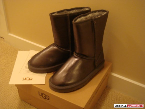 New in box, UGG Metallic Short Boots