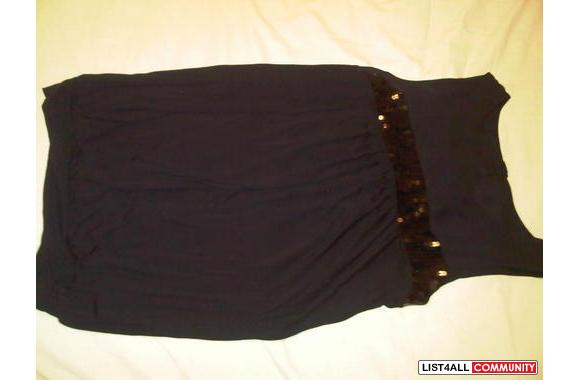 Black sequence dress/shirt -can be work with pants, legings, shorts