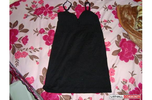 black built in bra top or can be worn as a dress