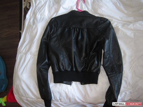 H&M leather jacket size 2 good condition