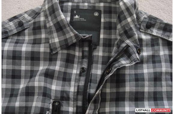 G-star short sleeve plaid NEW**