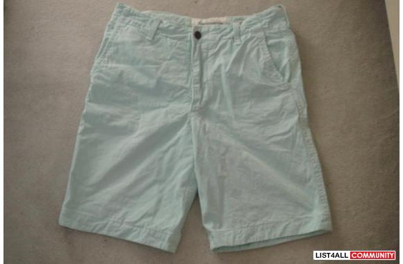 Abercrombie Light Blue Cargo Shorts NEW**