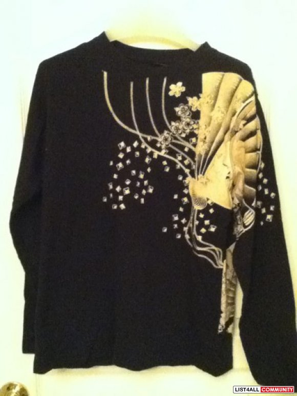 Japanese koi graphic L/S NEW**