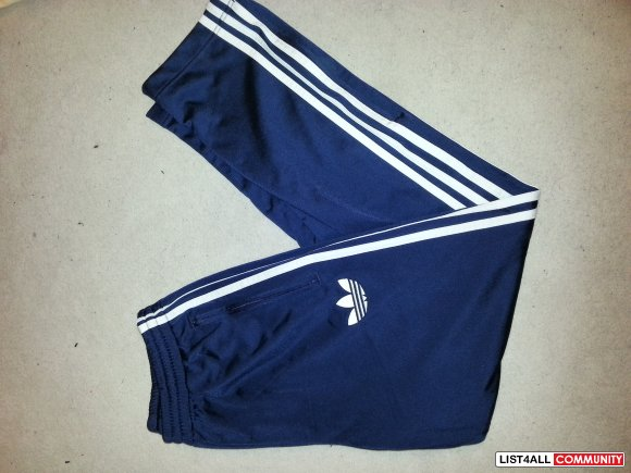 Adidas Firebird Navy Track Pants NEW**