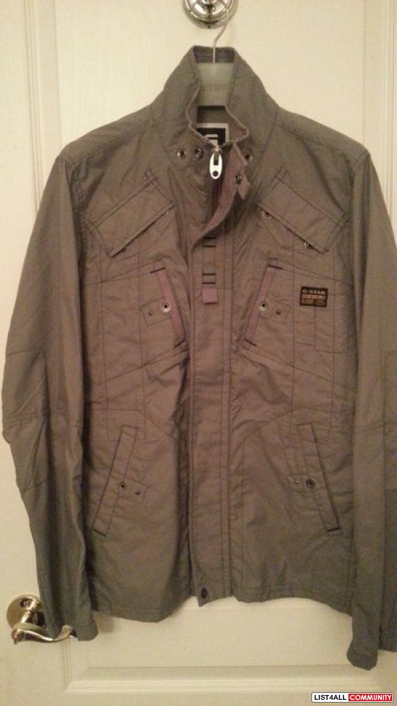 "G-star ""Johnson Solid overshirt"" Grey Jacket BNWOT**"