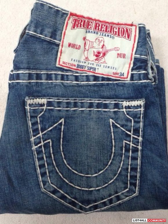 True Religion Bobby Super T BNWOT**