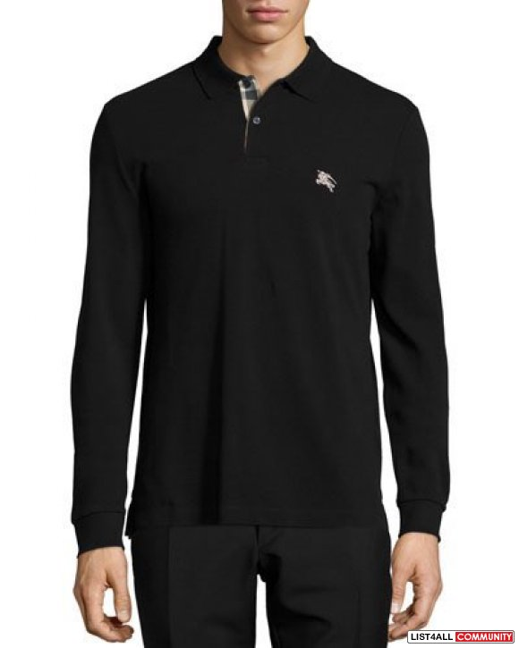 Burberry long sleeve polo SMALL