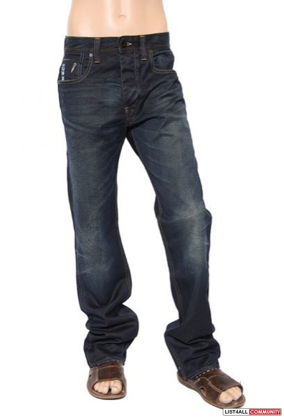 G star attacc straight dark aged blue jeans **NEW COND