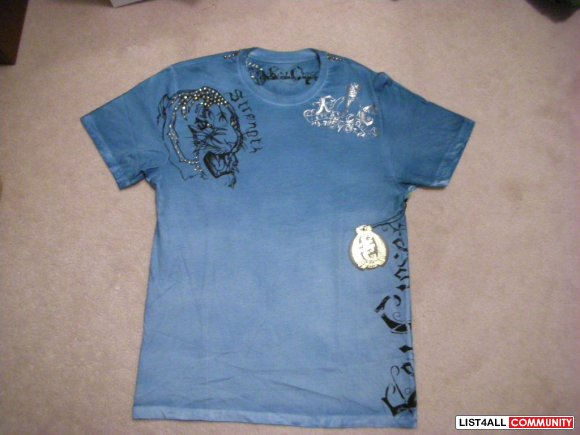 Authentic Men's Key Closet Swarovski Tiger shirt