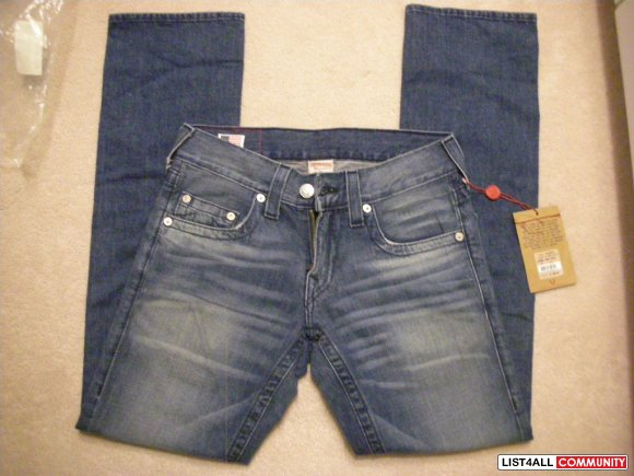 Authentic BNWT Men's True Religion Bobby Deep Lagoon - Sz. 29